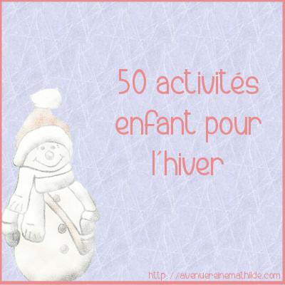 50 activités hiver