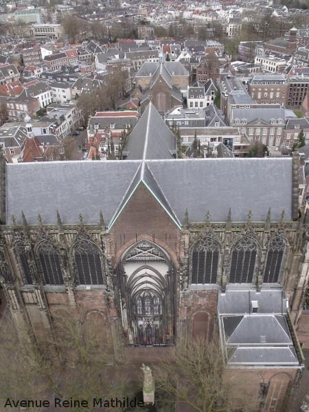 Vue depuis la tour sur la partie restante de l'église.