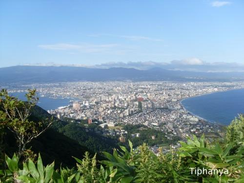 Ville d'Hakodate depuis le sommet du Mont Hakodate - août 2012