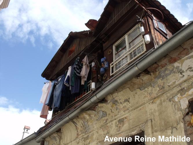 Linge qui sèche dans les rues de Zagreb