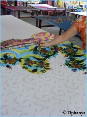 Peinture directement sur le tissus
