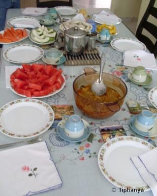 Petit déjeuner dans une famille indienne