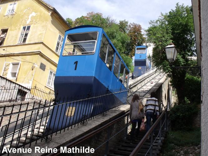 Le funiculaire reliant la ville basse et la ville haute - Zagreb, septembre 2013