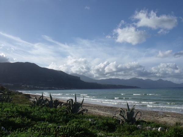 La plage de Castellammare del Golfo - fév. 2014