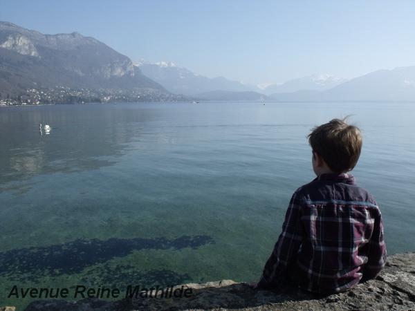L'un de nos hôtes face au lac d'Annecy - mars 2014