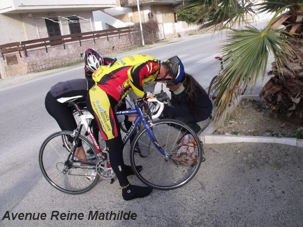 Solidarité entre cyclistes