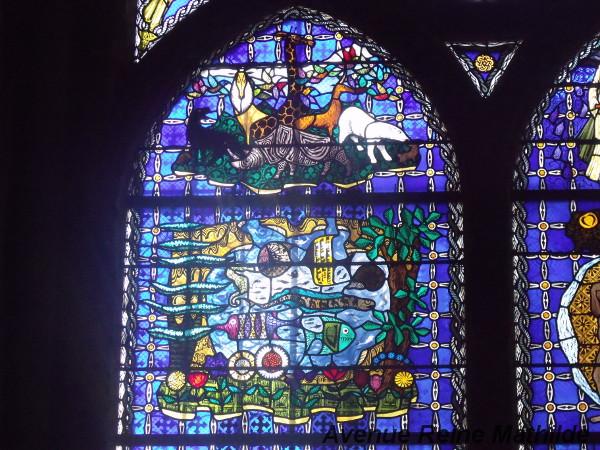 Détail d'un vitrail de la cathédrale de Clermont-Ferrand