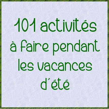 101 activités été