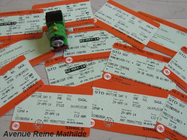 Notre petite collection de billets de train britanniques