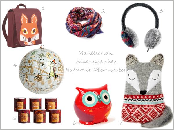 Shopping nomade et hivernale chez Nature et Découvertes