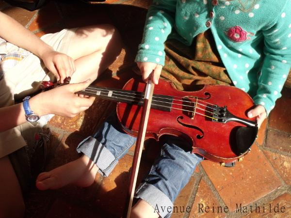 unschooling et passion pour le violon