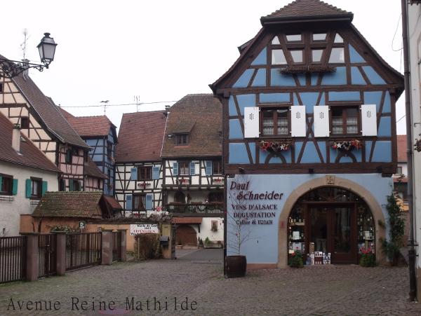 Eguisheim sur la route des vins d'alsace
