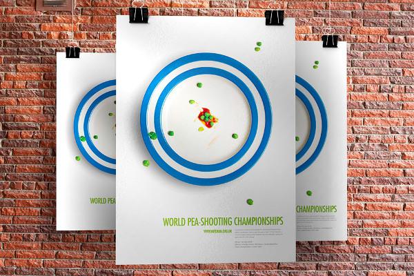 Championnat du monde de lancer de petit pois - crédit photo : Lee Mason