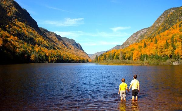 Famille nomade au Canada