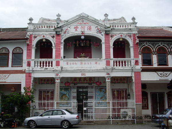 Maison chinoise à Penang, Malaisie