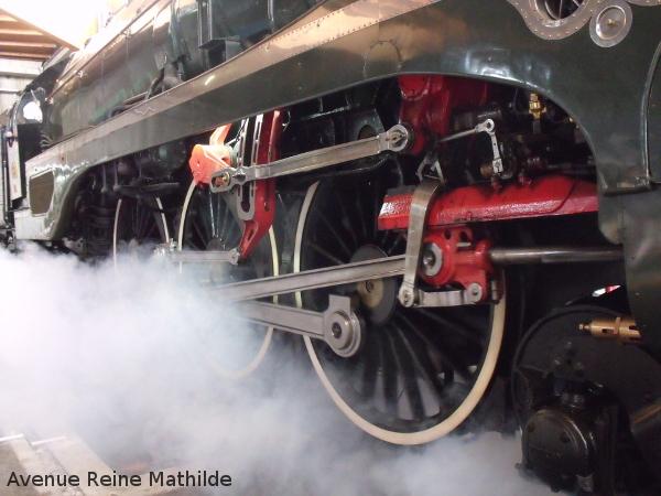 Lancement d'une locomative à vapeur - Cité du train Mulhouse