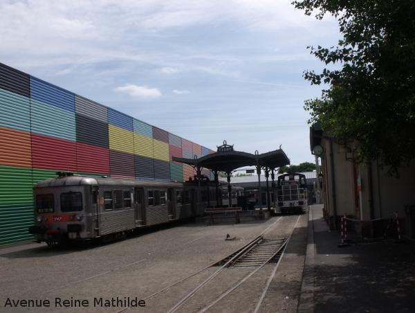 Gare parisienne, ambiance banlieue, à la Cité du Train de Mulhuse