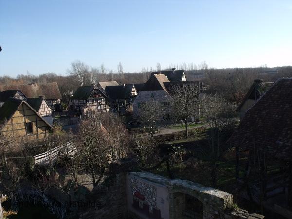 vue sur l'écomusée d'Alsace