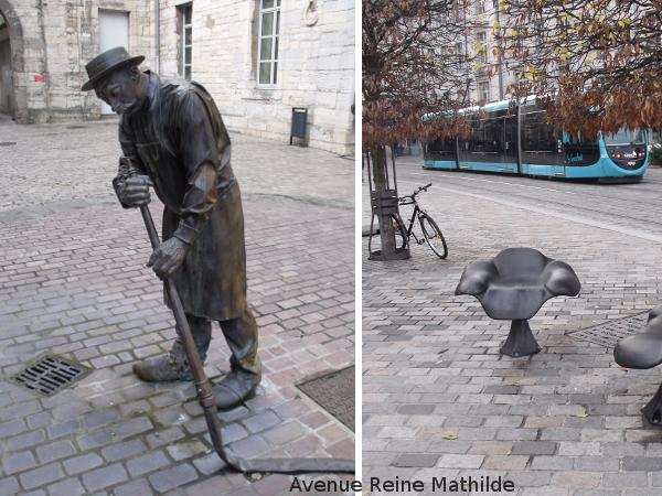 Besançon rues statues