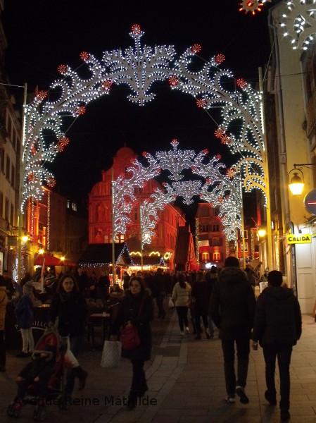 Rue de Mulhouse illuminée pour Noël