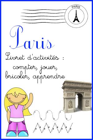 livret d'activités sur Paris niveau maternelle