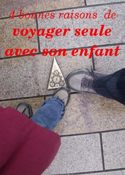 voyageur seule avec son enfant