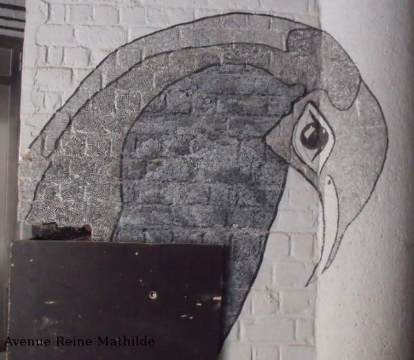 Gand street art oiseau