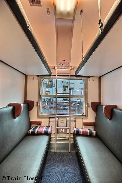 train hostel cabines