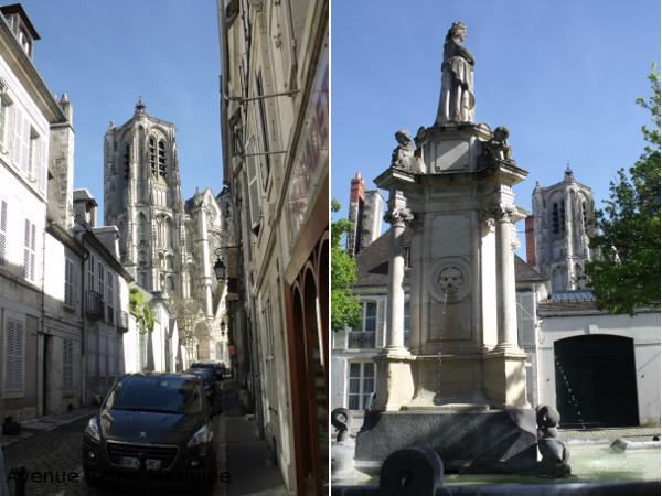 Bourges cathédrale et rues