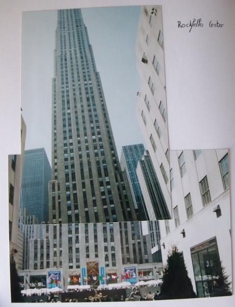 Le Rockfeller center dans un montage photo réalisé longtemps avant l'apparition du numérique dans ma vie