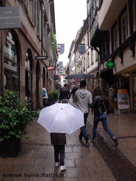 Strasbourg rue pluie