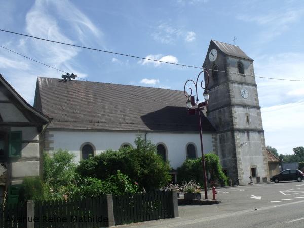 L'église de Undsbach à l'architecture surprenante pour l'Alsace