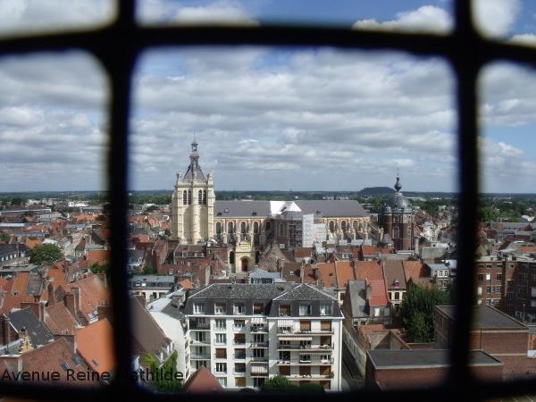 Vue depuis le beffroi de Douai
