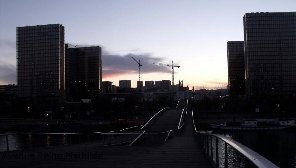 Coucher de soleil sur la BNF