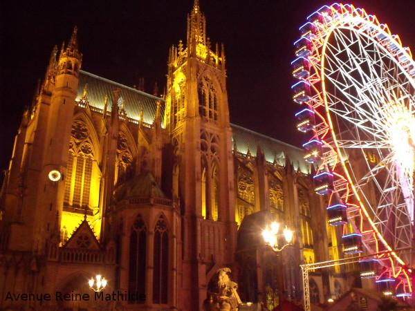Grande roue de Metz au marché de Noël