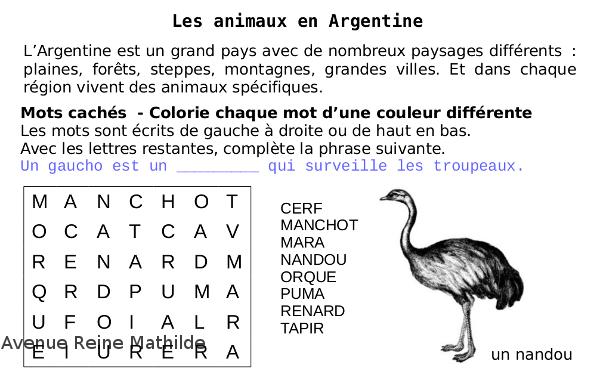 extrait mots croisés enfant argentine