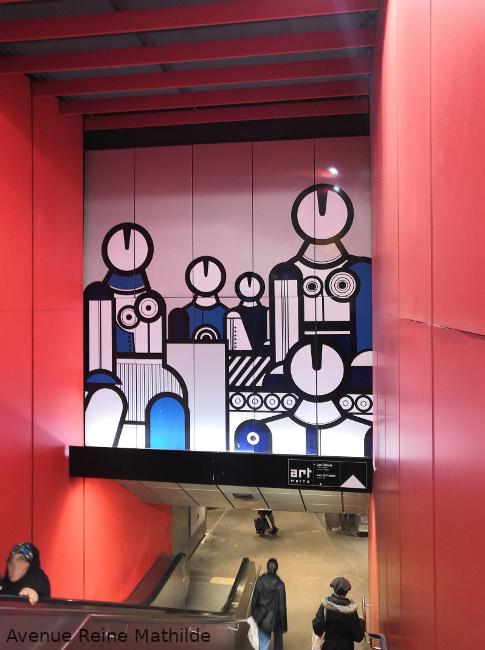 art dans métro à Lyon