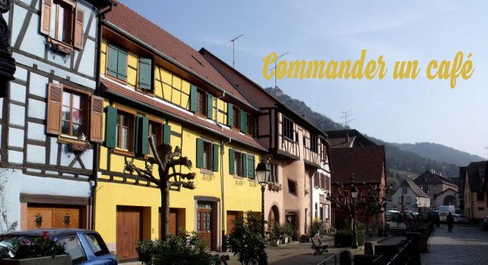 commander un café en Alsace