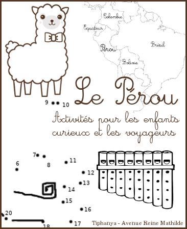 activités sur le Pérou