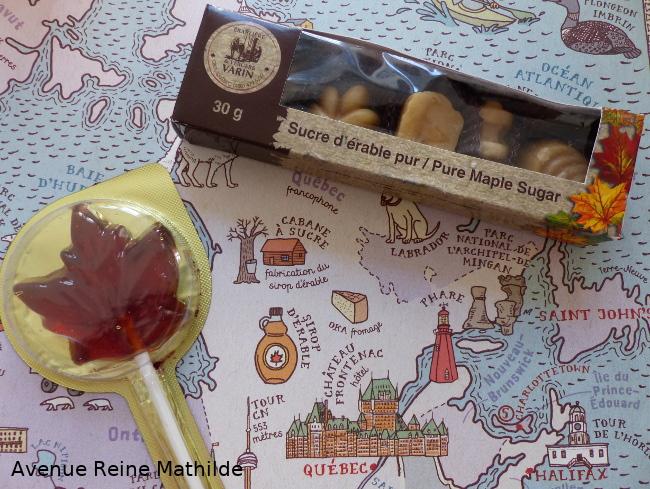 bonbons à l'érable du Québec