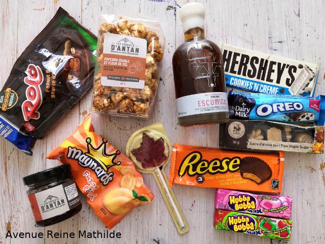Sélections de bonbons du Canada