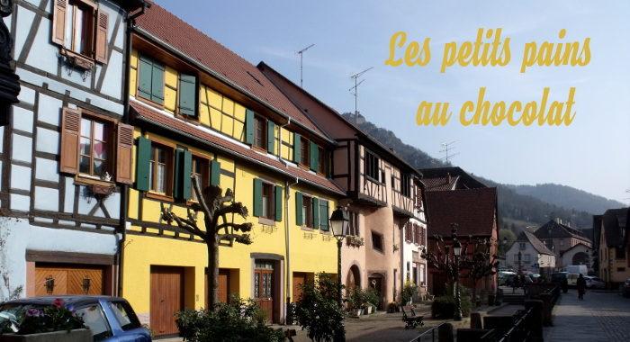 petits pains au chocolat en Alsace