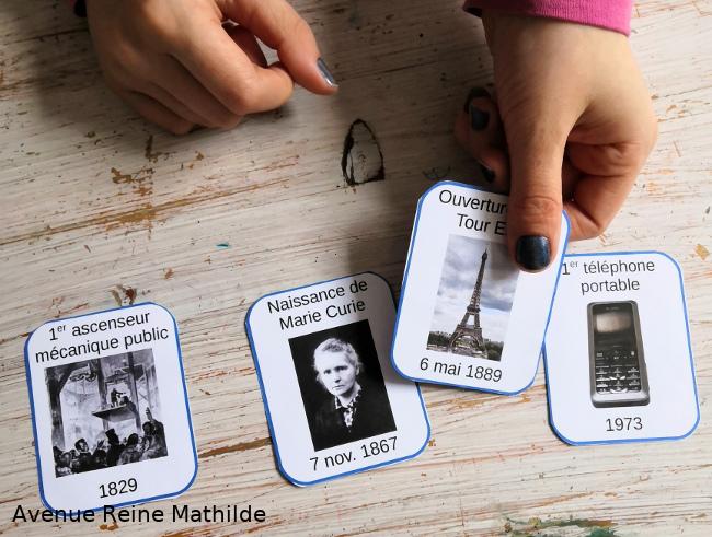 Jeu de cartes sur les inventions scientifiques