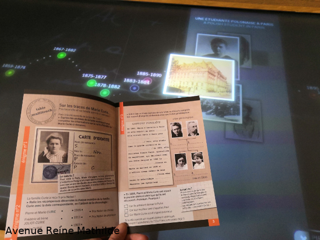 Livret jeu musée Curie