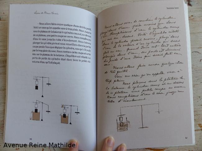 Extrait de leçons de Marie Curie