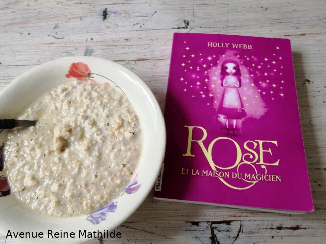 Rose et du Porridge au miel