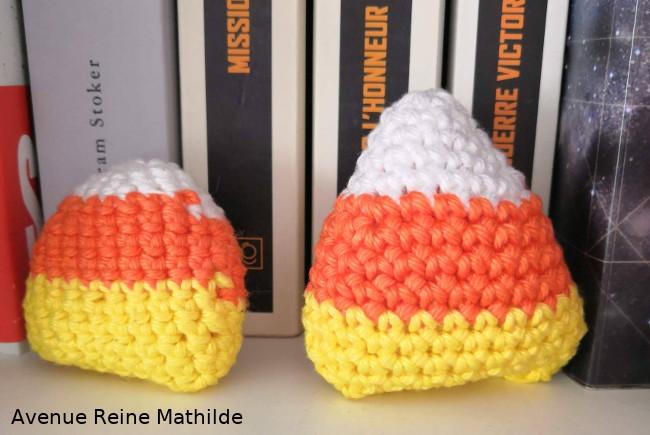 candy corn au crochet