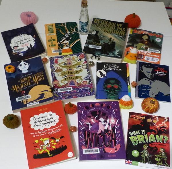 Pile à lire Halloween