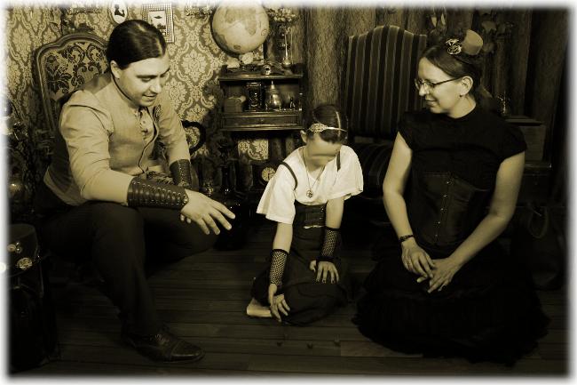 Photos de famille Steampunk